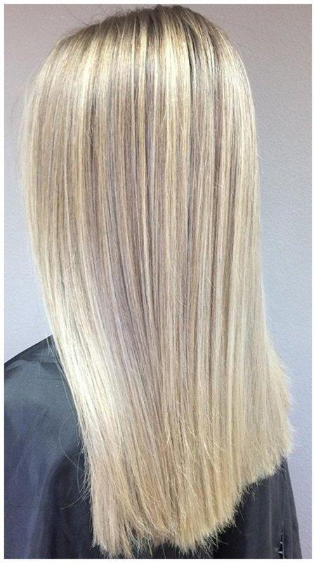 Красивое окрашивание для блондинок