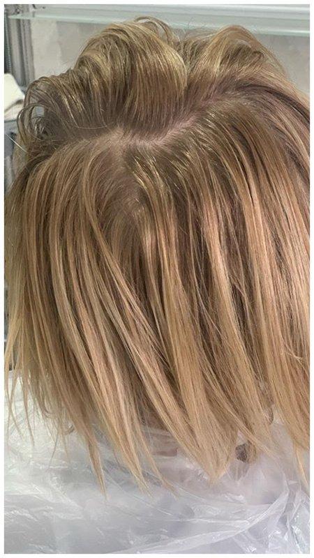 Волосы до тонирования