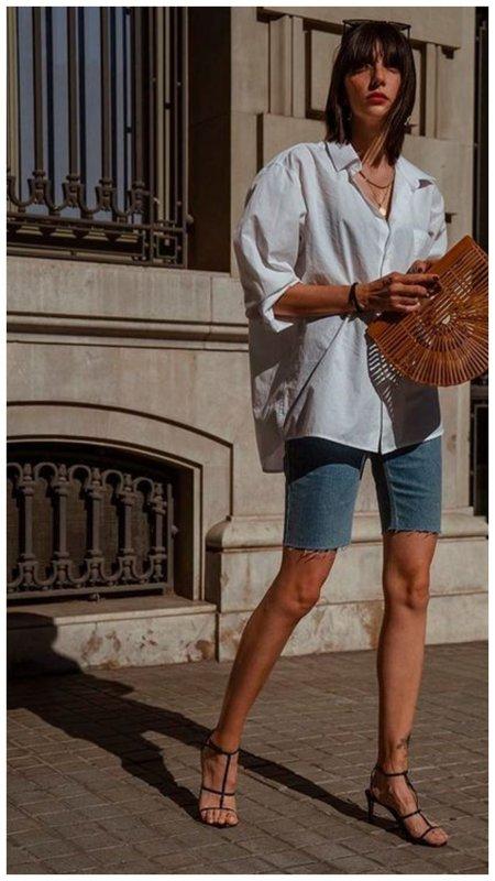 Образ шорты и рубашка