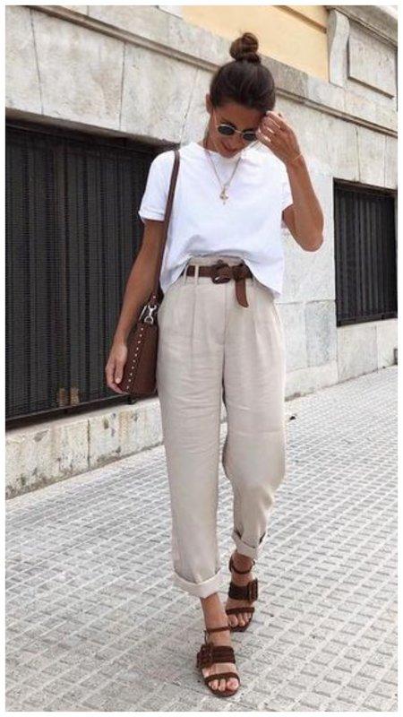 Модный летний образ с джинсами