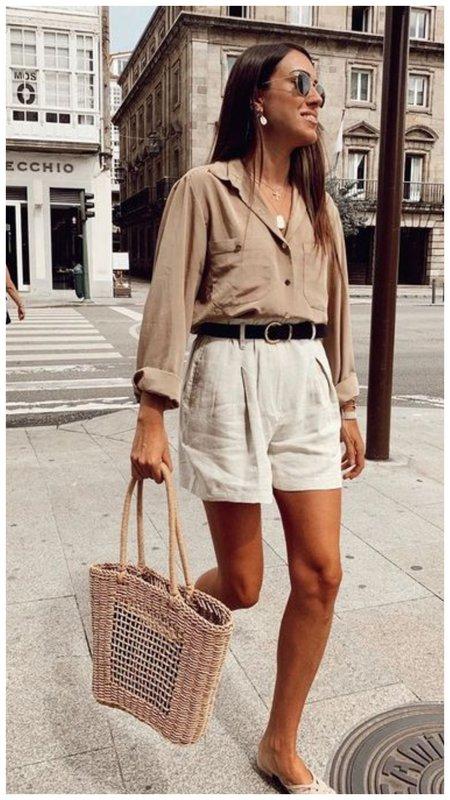 Образ с шортами на лето