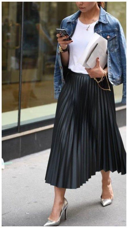 Как модно носить джинсовую куртку