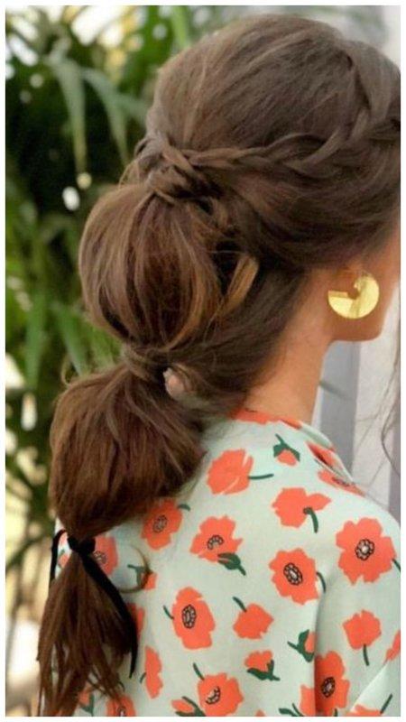 Красивая прическа на каждый день для длинных волос