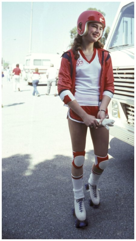 Брук Шилдс в спортивной форме