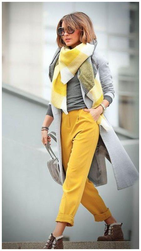 Образ с аксессуаром с виде шарфа