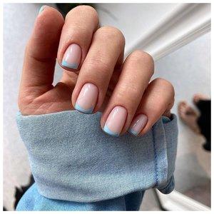 Летний френч на ногтях