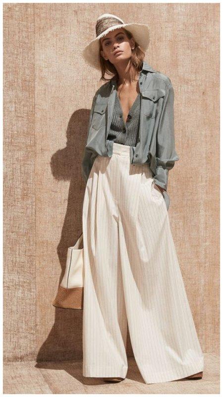 Широкие брюки на лето - тренд