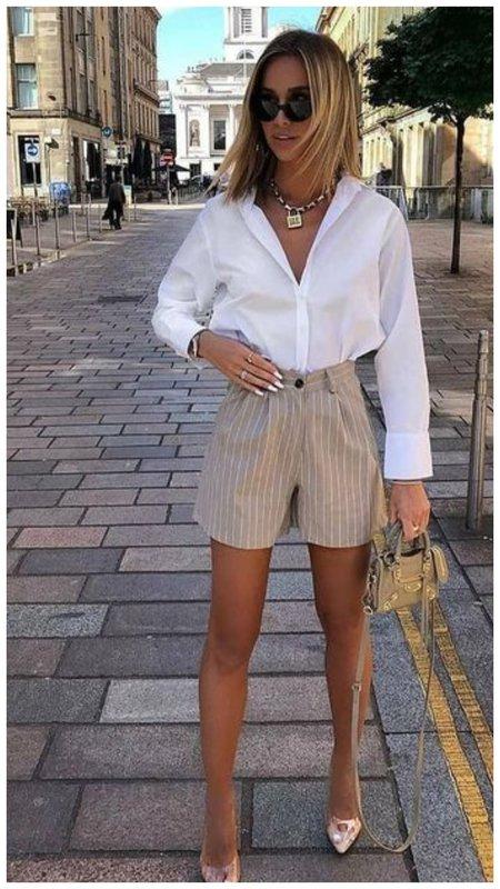 Очень стильный лук с шортами