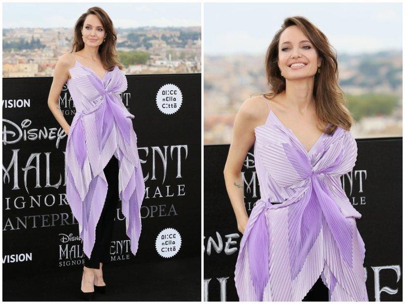 Анджелина Джоли в фиолетовом образе