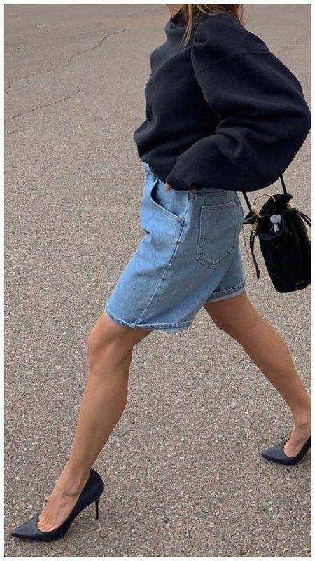 Красивые джинсовые шорты