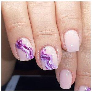 Фиолетовые волны - дизайн маникюра