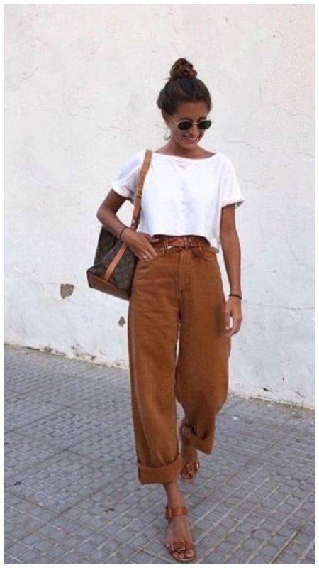 Летний образ с джинсами слоучи
