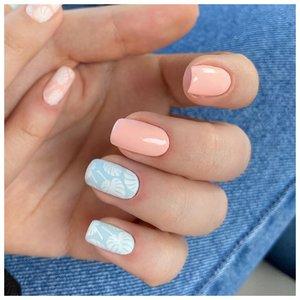 Нежные ногти на лето