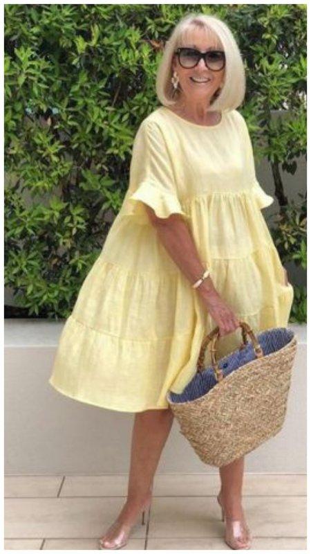 Летнее платье в стиле барби