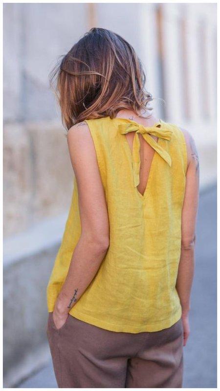 Красивая льняная блузка