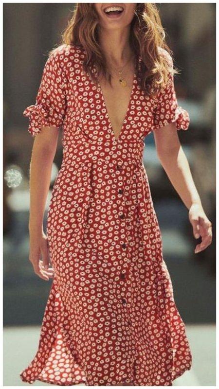 Модное платье с цветами