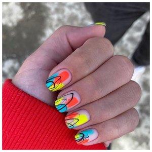 Очень красивые неоновые ногти