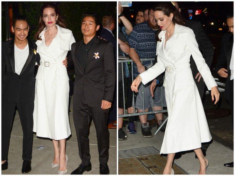 Анджелина в белом наряде