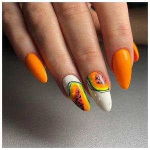 Сочные ногти с папайей