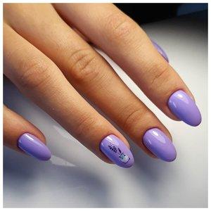Красивые сиреневые ногти