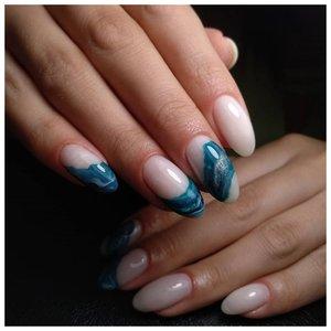 Красивые длинные ногти с летним дизайном