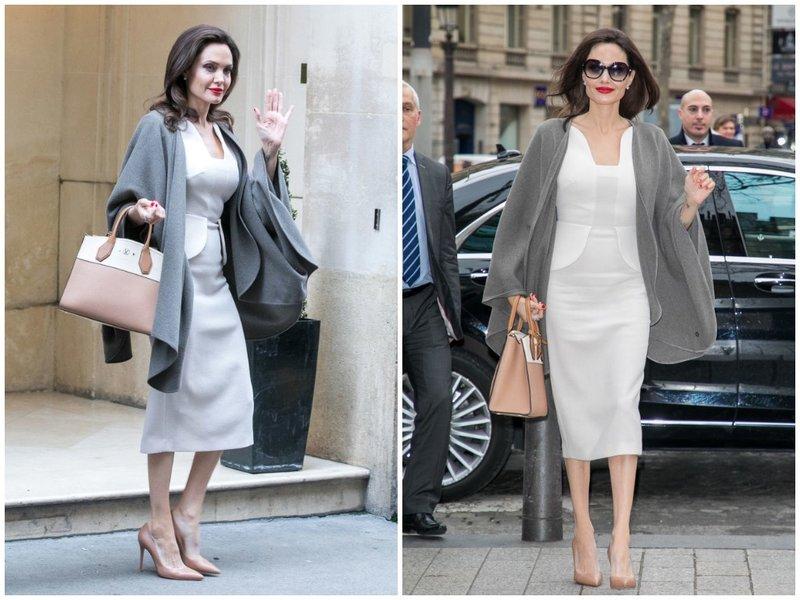 Джоли в стильном костюме