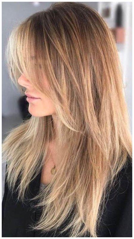 Идея стрижки на длинные волосы