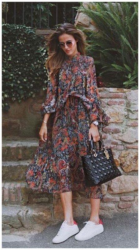 Платье в дачном стиле