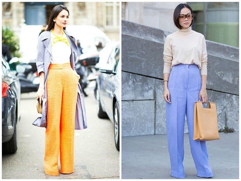 Модные брюки палаццо со стрелками