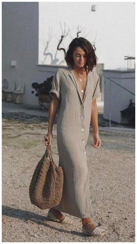 Красивое платье - рубашка