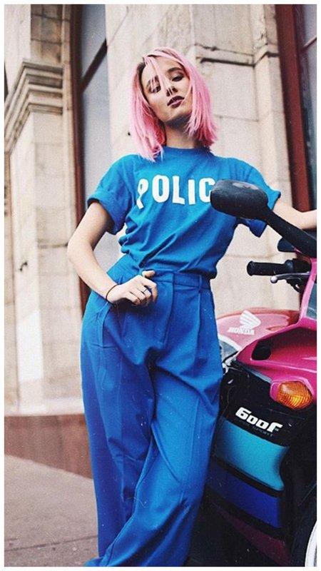 Клава Кока в синем образе