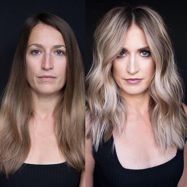 Образ до и после стрижки