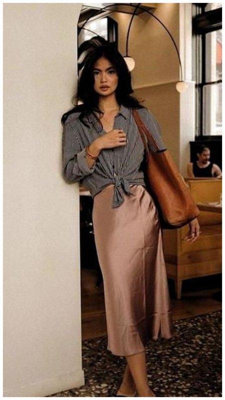 Платье-комбинация с рубашкой