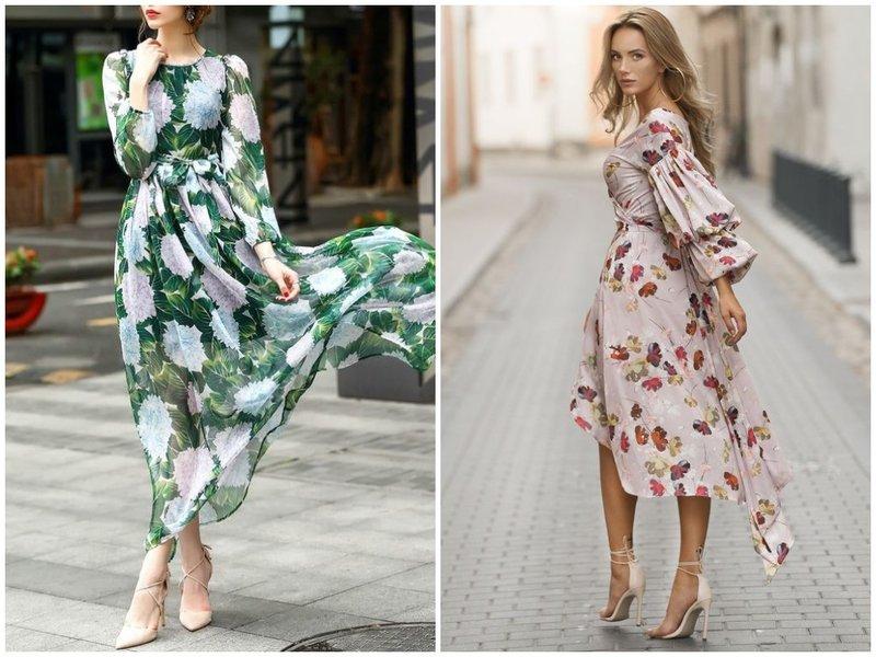 Романтичное платье с босоножками