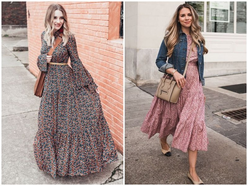 Как носить легкое платье платье с цветочками