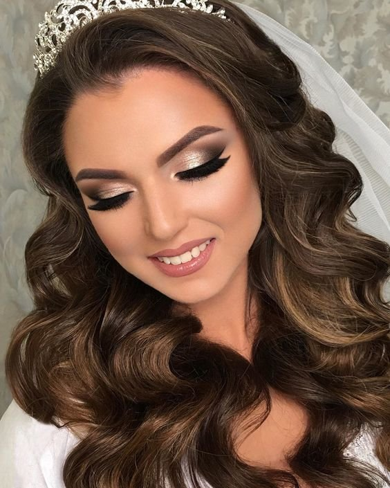 Идея для свадебного макияжа