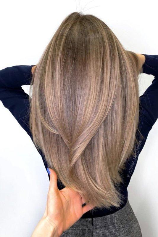 Красивые длинные волосы после окрашивания