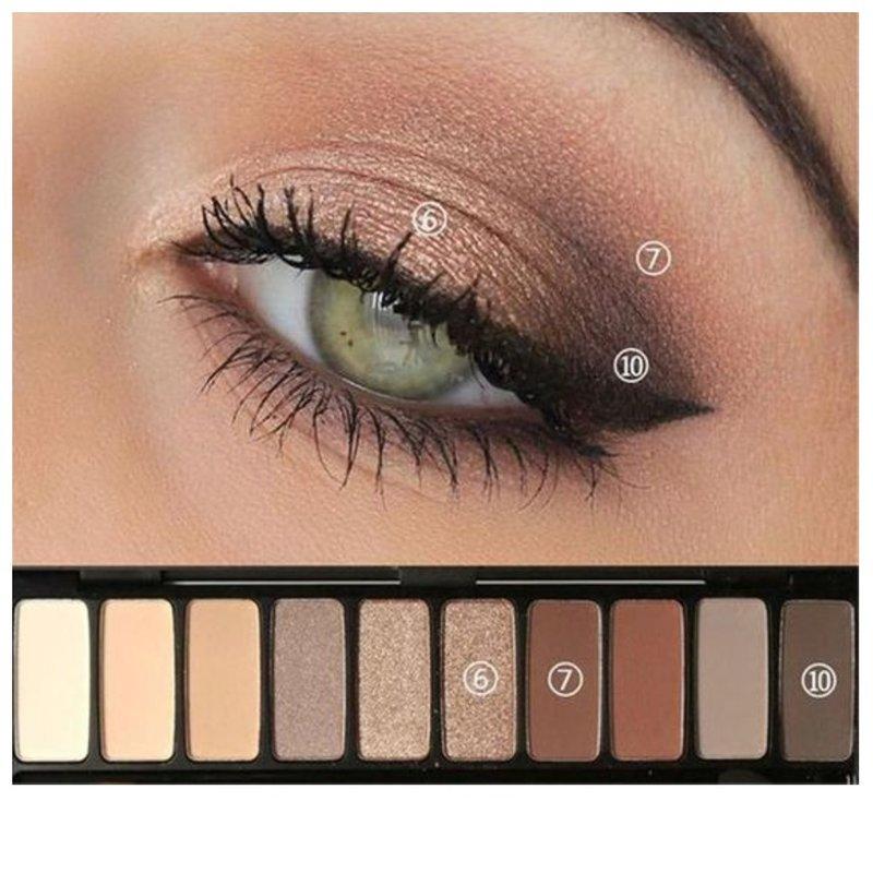 Красивый дневной макияж для зеленых глаз: пошаговое фото