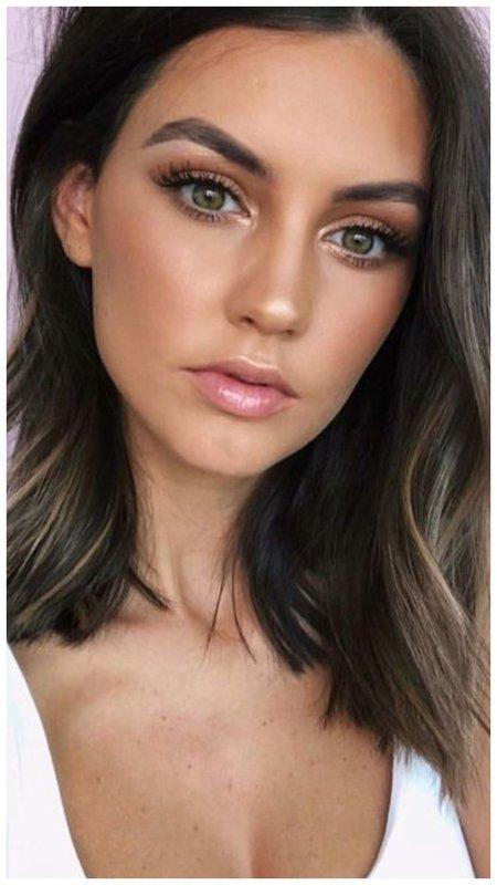 Простой макияж для зеленых глаз на каждый день