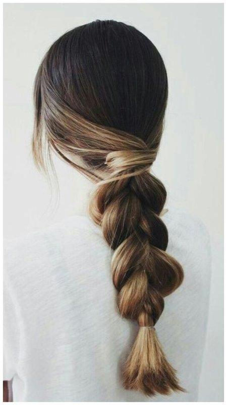 Красивая повседневная коса