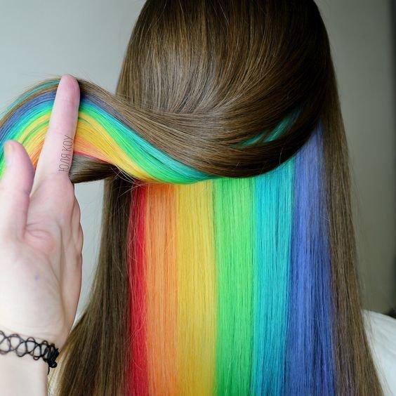 Прикольная идея для окрашивания волос