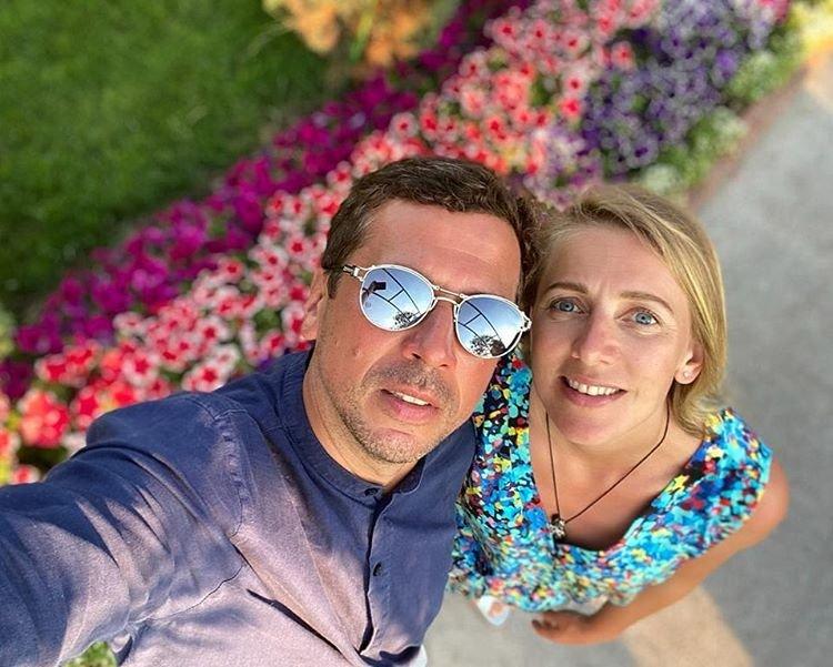 Андрей Мерзликин с женой фото из отпуска
