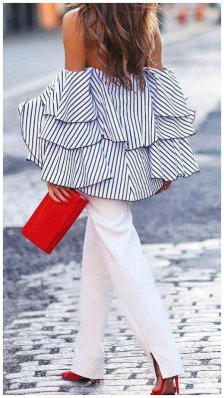 Объемная блузка