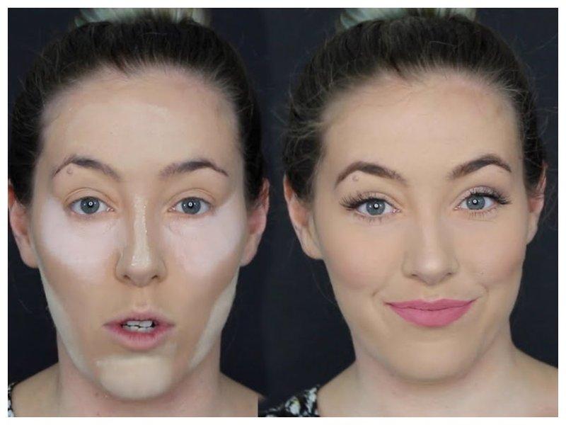 Фото до и после использования консилера для лица