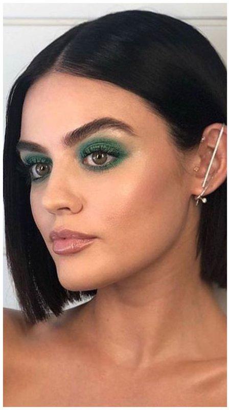 Зеленый смоки айс для зеленых глаз