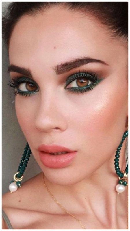 Макияж зеленый для зеленых глаз