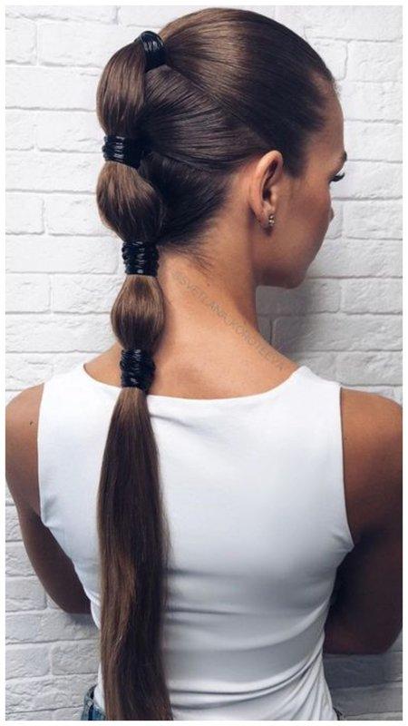 Стильно собранные волосы