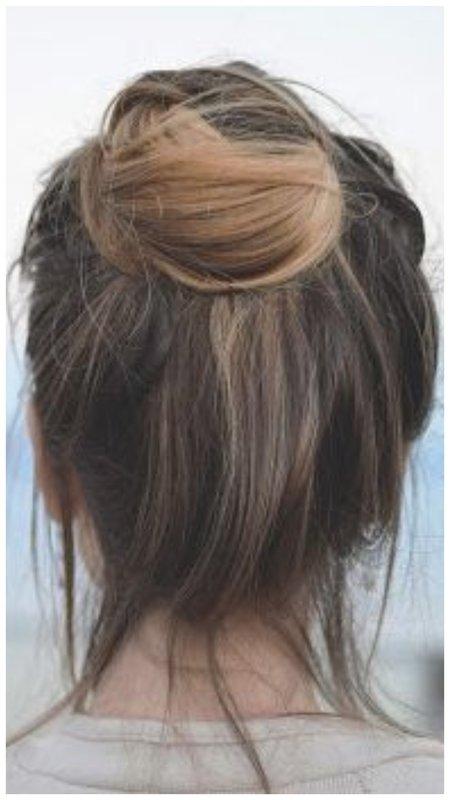 Простая прическа для редких волос