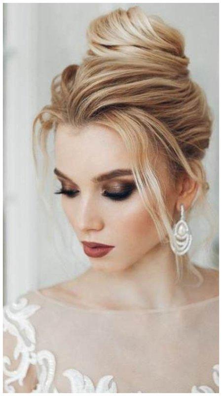 Темный макияж для невесты