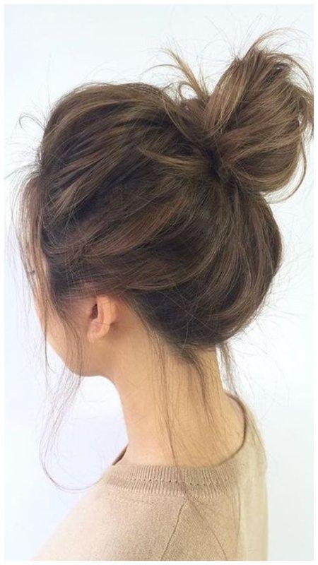 Пучок для редких волос